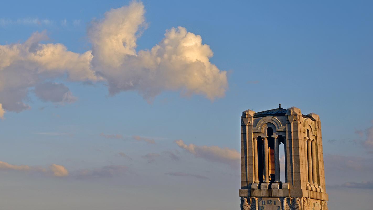 University belltower against skyline