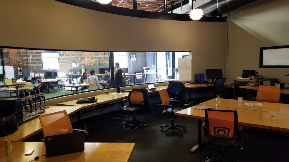 Shared office space for startups