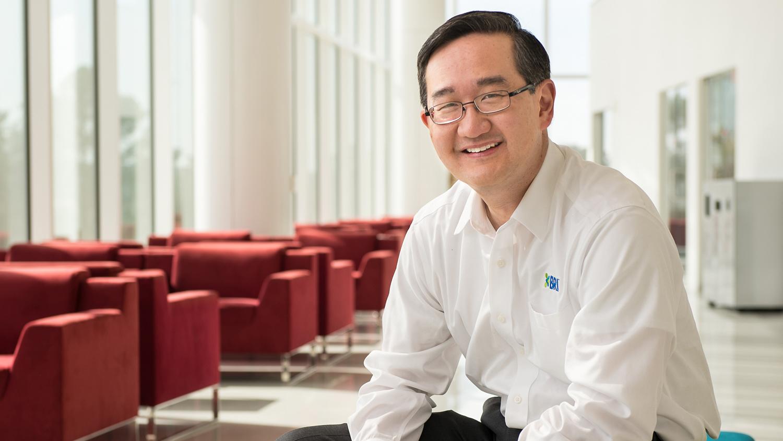 Company CEO on campus