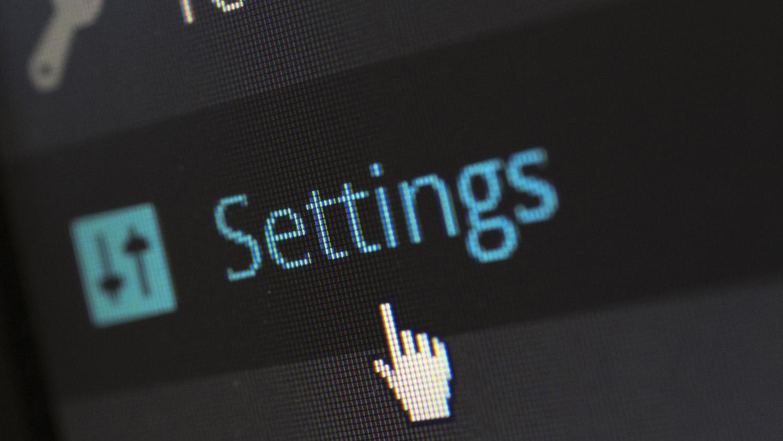 computer settings image