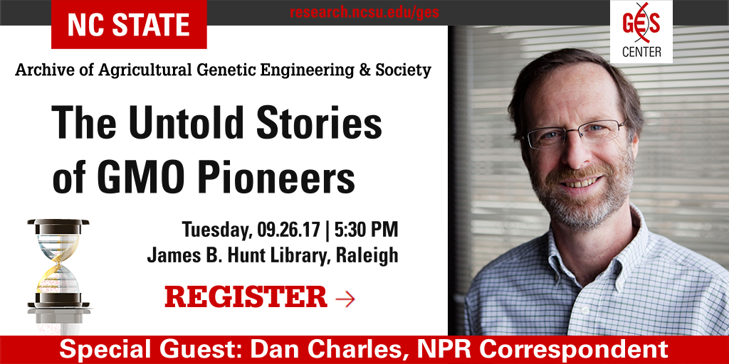 Register for AGES: The Untold Stories of GMO Pioneers