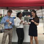 Students eat ice cream at legislature