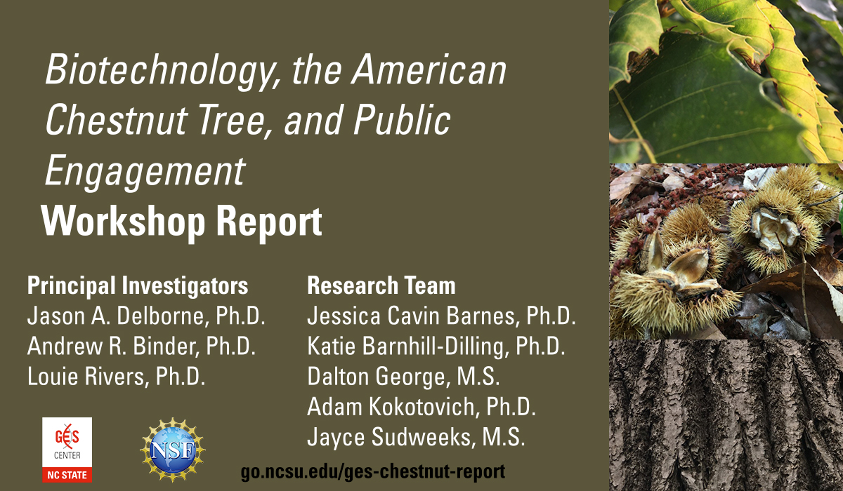 Report: Biotechnology, the American Chestnut, and Public Engagement
