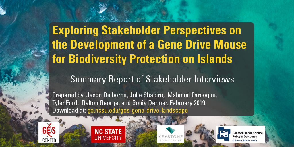 Report: Stakeholder Perspectives on Gene Drive Mice for Biodiversity Protection on Islands