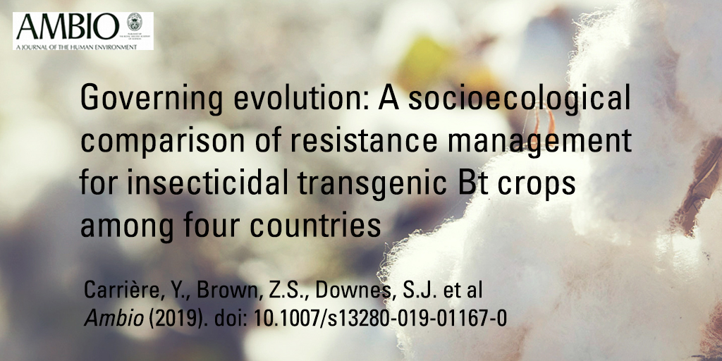 Governing evolution - A socioecological comparison of resistance management for Bt crops