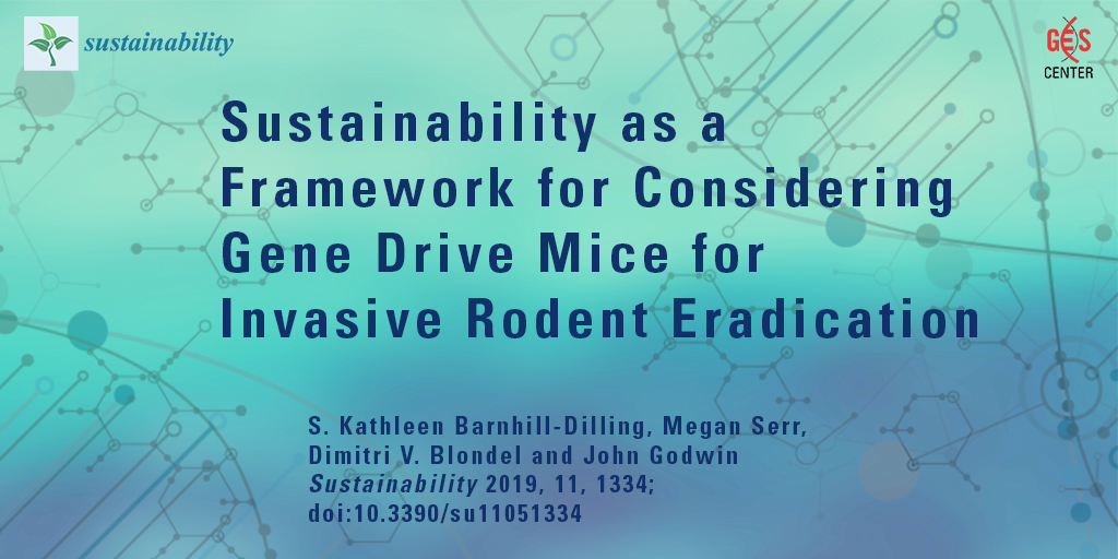 Sustainability as a Framework for Considering Gene Drive Mice for Invasive Rodent Eradication
