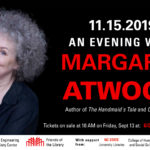An Evening with Margaret Atwood - Save the Date - 11.15.2019