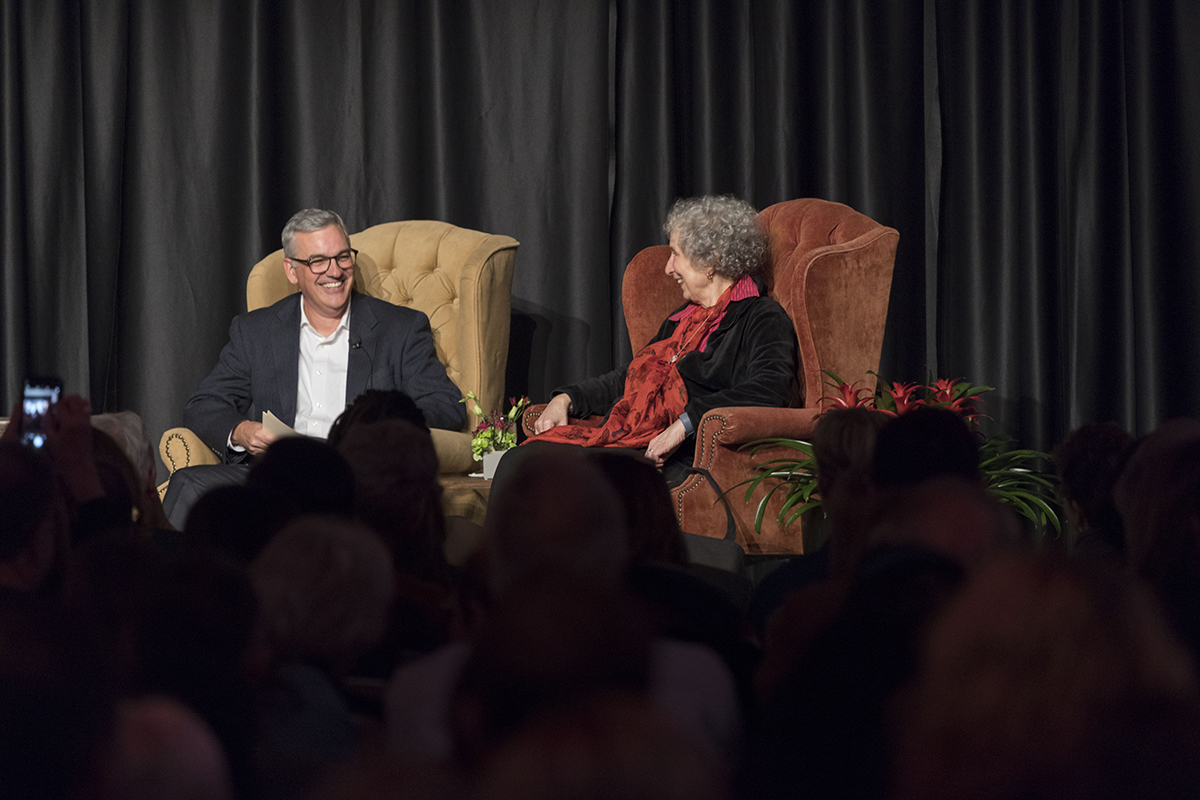 Margaret Atwood discusses her 'prophetic' novel, effects of new science developments on society