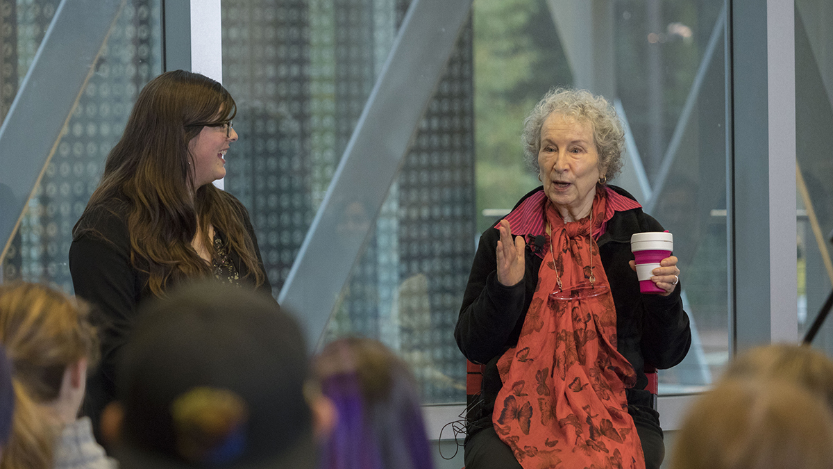 Margaret Atwood student discussion session