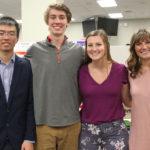 Photo of Aaron Wang, Sean Bowman, Hannah Parey and Emma Jenio
