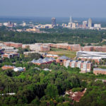 Centennial Campus, looking northeast towards Downtown Raleigh.